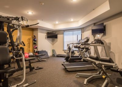 on-site fitness center at Patriot Station at Chalfont apartments