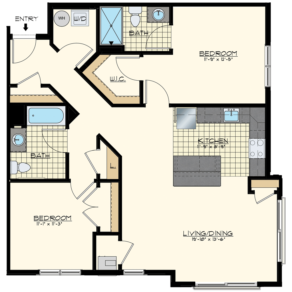 Patriot Station at Chalfont Two Bedroom Floor Plans