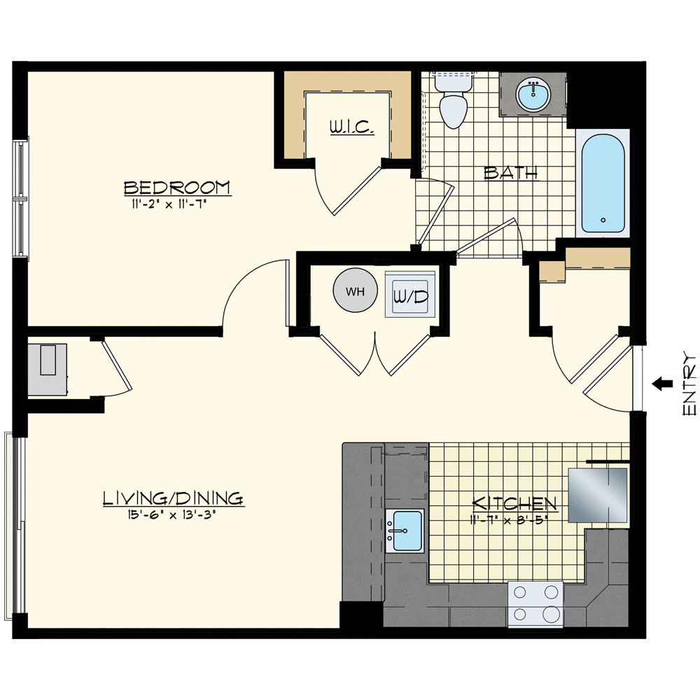 Patriot at Chalfont One Bedroom Floor Plan Unit Providence